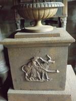 Ritkaság ! Magyar öntöttvas kályha Bikás csikós vaskályha 1850 múzeum nak vadász ház nak