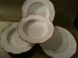 4 db antik Sarreguemines tányér (26,5 cm)