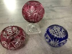 Gyönyörű szép ajkai kristály bombonier, váza - többféle