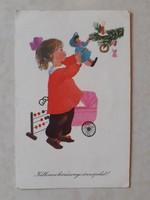 Régi karácsonyi képeslap 1960