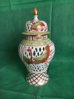 Főnix madaras csodaszép Herendi fedeles váza, a győztesek szimbóluma