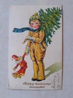 Régi karácsonyi képeslap 1936