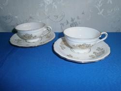J_040 / 2 x 2 részes Bavaria porcelán kávés készlet: csésze alátéttel