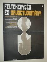 Karácsonyi ajándék ötlet! Antik filmplakát: FÉLTÉKENYSÉG ÉS ORVOSTUDOMÁNY