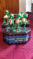 Retro, zöld béka zenekar eladó!Zenedoboz eladó!