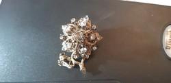 Antik 18k arany gyémánt Bross és Medál 1890