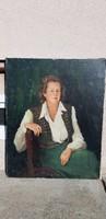 Antik festmény Koch Ernőné 1948.