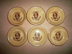 """6 darabos , jelzett """"Calvados"""" kerámia poháralátét csomag 1."""