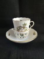 RO-11 Különleges Herendi Rothschild csokoládés csésze hibátlan