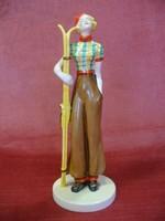 Art-deco síelő Hummel figura
