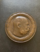 I. Ferenc József Bronz Plakett