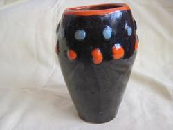 Igen ritka jelzett retro Iparművész kerámia váza bogyó mintával