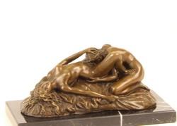 Erotikus bronzszobor - 2nő...