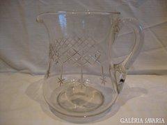 Csiszolt antik üveg kancsó
