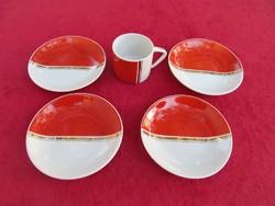 Hiánypótlás egyben - Hollóházi csészealjak + csésze egyben - 5 db.-os, 10,7mm
