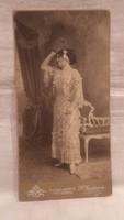 Heinrich Jandaurer antik műtermi fotó alló hölgy