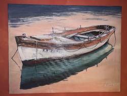 Csónak festmény
