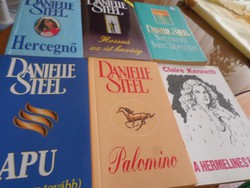Danielle Steel/Claire Kenneth Szerelmes, romantikus könyvek: 7 db = 2.600 Ft , vagy darabja: 500 Ft.