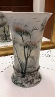 Kézi festésű váza