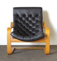 0Y608 Retro bőr Breuer Marcell forma fotel