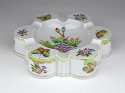 0Y685 Herendi Viktória mintás porcelán hamutál