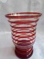 Bíbor pácolt antik üveg pohár
