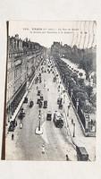 Régi képeslap 1923 párizsi utcakép Paris Párizs