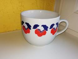 3 dl-es Ritka mintájú Zsolnay csésze, porcelán