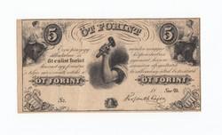 Kossuth 5 Forint 1852 ,Sor D öt ezüst forint