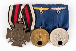 Német kitüntetéssor Szolgálati Medálok 4-12, valamint Hindenburg Kereszt GYÖNYÖRŰ ÁLLAPOT!