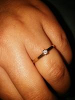 Arany gyűrű gyémánttal