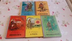 Ifjúsági könyv eladó!Az utolsó Mohikán,  préri, Bőrharisnya,Nyomkereső,Vadölő