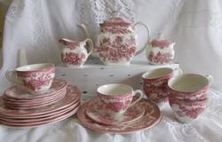 Enoch Wedgwood fajansz teás, kávés készlet