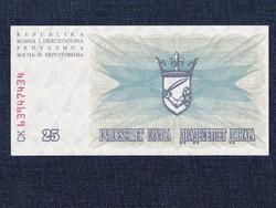 Bosznia-Hercegovina 25 Dínár bankjegy 1992 UNC / id 12946/