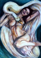 Tar Violetta (Vio) Léda című festménye