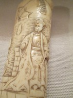 Kínai motívumos csont nyél (botnyél)