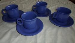 Kerámia kávéscsészék alátéttel (kék csésze, kávés)