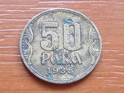 JUGOSZLÁV KIRÁLYSÁG 50 PARA 1938