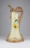 0W676 Régi porcelán virágos kancsó kiöntő