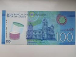 Nicaragua 100 cordobas 2015 UNC  Polymer