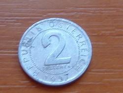 AUSZTRIA OSZTRÁK 2 GROSCHEN 1957 ALU.