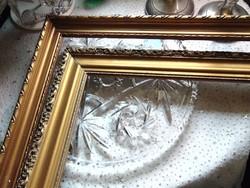 2 db antik aranyozott fa képkeret