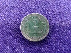 Háború előtti forgalmi veretek zöld patinás 2 fillér 1935 BP / id 11664/