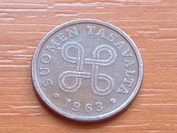 FINNORSZÁG 5 PENNIA 1963