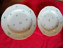 2 db Óherendi porcelán lapos tányér javított