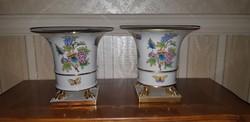Herendi Viktória mintás óriás körmös váza pár 2 db
