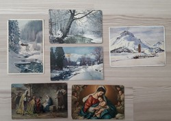 Téli, karácsonyi képeslapok