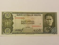Bolívia 10 Bolivianos UNC 1962