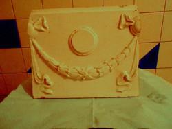 Szecessziós  majolika - kályhacsempe 21 cm x 18 cm