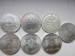 100 shilling érme sor kollekció 7db. 24gr - 0.640ag  Ár per db.